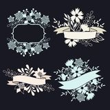 Set of design elements with ribbons, labels and Stock Photography