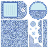 Set of design elements - snow. Snow seamless background and other elements to your design Royalty Free Stock Image