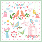 Set of design elements for spring.Vector illustration. Spring time. Set of design elements for spring. Vector illustration Royalty Free Stock Photos