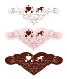 Set design elements for Valentine days and Wedding Royalty Free Stock Photo
