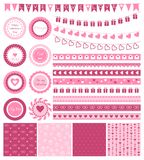 Set of design elements for Valentine's Day or Royalty Free Stock Photo