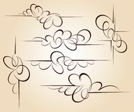 Set design elements. Vector illustration.Brown  beige. Set design elements. Vector illustration.Brown on beige Royalty Free Stock Photos