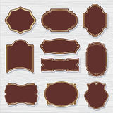 Set 2 of design elements vector sample labels shapes Royalty Free Stock Photo