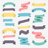 Set of design elements vintage banners ribbons. Stock Photo