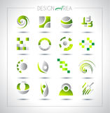 Set of design elements for your project. Mixed abstract shapes with shadows Royalty Free Stock Images