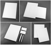 Set design för brevpapper Brevpappermall vektor för mall för identitet för illustrationsaffär företags Arkivbild