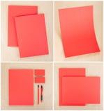 Set design för brevpapper Brevpappermall vektor för mall för identitet för illustrationsaffär företags Royaltyfri Bild