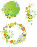 Set of design floral elements Stock Photography