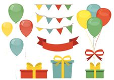Set design for greeting card. The holiday, birthday. Royalty Free Stock Photography
