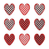 Set of design heart icons for Valentines Day and w Royalty Free Stock Image