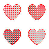 Set of design heart icons for Valentines Day and w Royalty Free Stock Images
