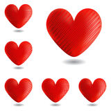 Set of design heart icons for Valentines Day and w Stock Photography
