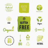 Set of design icons for organic and bio food Stock Photography