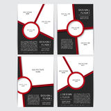 Set of design of the red and black flyers vector illustration Stock Image