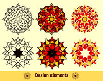 The set design of symmetric elements Stock Photo