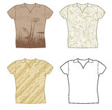 Set design t-shirts Royalty Free Stock Photography