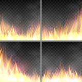 Set of design template with flame. Royalty Free Stock Photography