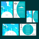 Set of design template with flyer, poster, brochure. For advertising, corporate identity, business, and other printing products. Stock Photo