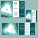 Set of design template with flyer, poster, brochure. For advertising, corporate identity, business, and other printing products. Royalty Free Stock Photo