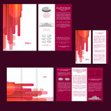 Set of design template with flyer, poster, brochure. For advertising, corporate identity, business, and other printing products. Stock Photos