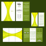 Set of design template with flyer, poster, brochure. For advertising, corporate identity, business, and other printing products. Royalty Free Stock Images