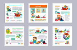 Set Design template for print products - cleaning service Stock Image