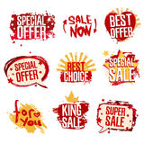 Set design template of stickers, labels, icons Royalty Free Stock Image