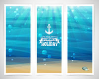 Set design template vertical banners. Underwater Royalty Free Stock Photos