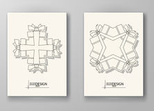 Set of Design Templates. Stock Photography