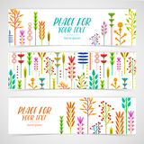A set of design templates horizontal banners with Royalty Free Stock Photo