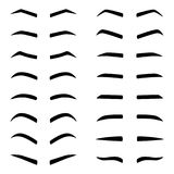 Set of designes of eyebrows, vector illustration Stock Image