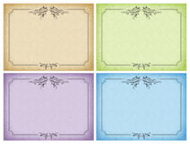 Set of designs cards, wedding invitations, the menu Royalty Free Stock Photography