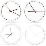 Chrome clock on white fon. Royalty Free Stock Image