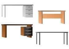 Set of desks for office equipment Stock Images