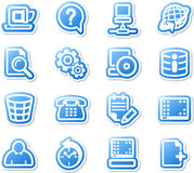 Set of desktop icons. Royalty Free Stock Images