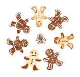 Set of dessert Gingerbread Man Royalty Free Stock Image