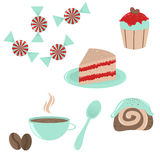 Set of dessert icons Stock Photo