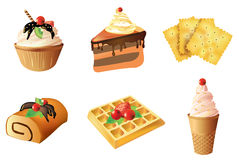 Set of dessert objects Stock Photo