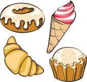 Set of desserts Royalty Free Stock Photo