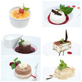 Set with desserts Royalty Free Stock Photo
