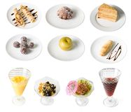 Set of desserts Stock Images