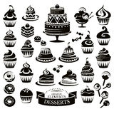 Set of desserts design elements Stock Image