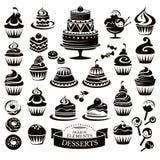 Set of desserts design elements Stock Image