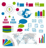 Set detail infographic elements for design web sit Royalty Free Stock Images