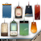 Set of Detailed Blank Vector Tags of Different Mat Royalty Free Stock Photography