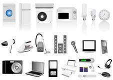 Set of detailed electronic elements Royalty Free Stock Image