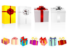 Set of detailed present Royalty Free Stock Images