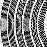 Set of detailed tire prints Royalty Free Stock Images