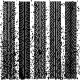 Set of detailed tire prints Royalty Free Stock Photo