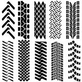 Set of detailed tire prints, vector illustration Royalty Free Stock Photography